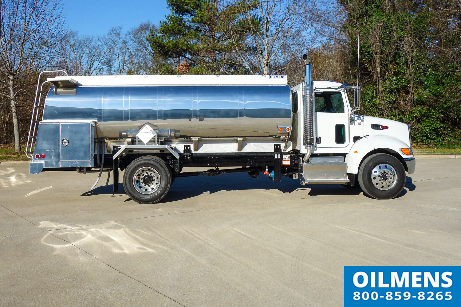 Single Axle Fuel Tanker : Peterbilt fuel truck with gallon